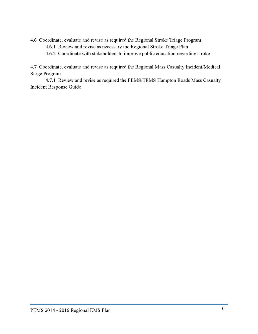 2014 Regional EMS Plan 2015 Review Page 6