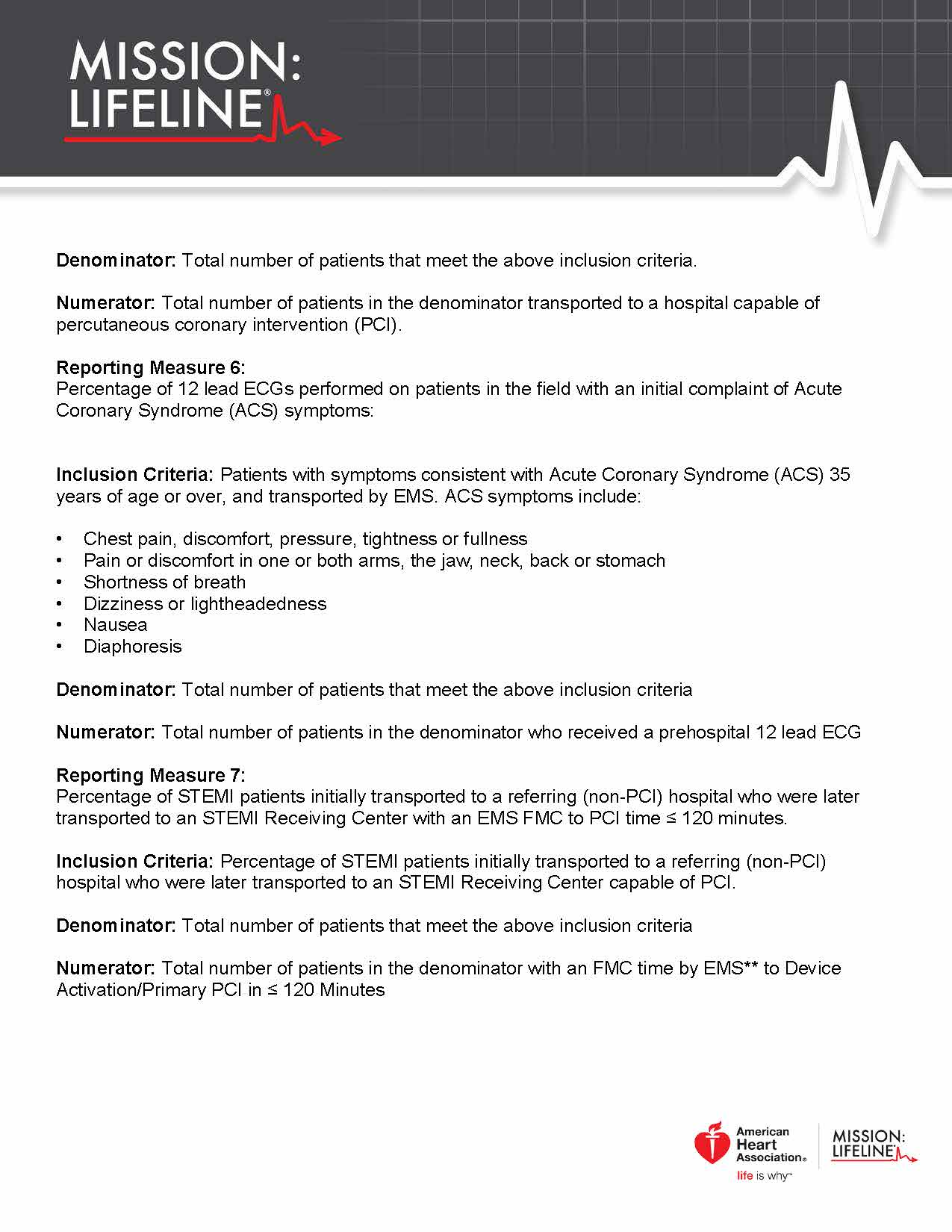 2017 Mission Lifeline EMS Recognition Guidelines Page 4