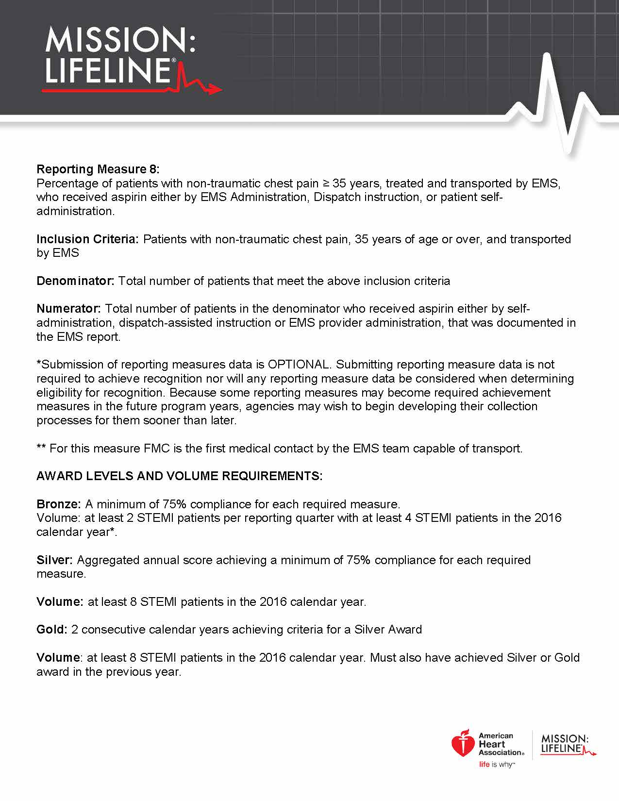 2017 Mission Lifeline EMS Recognition Guidelines Page 5