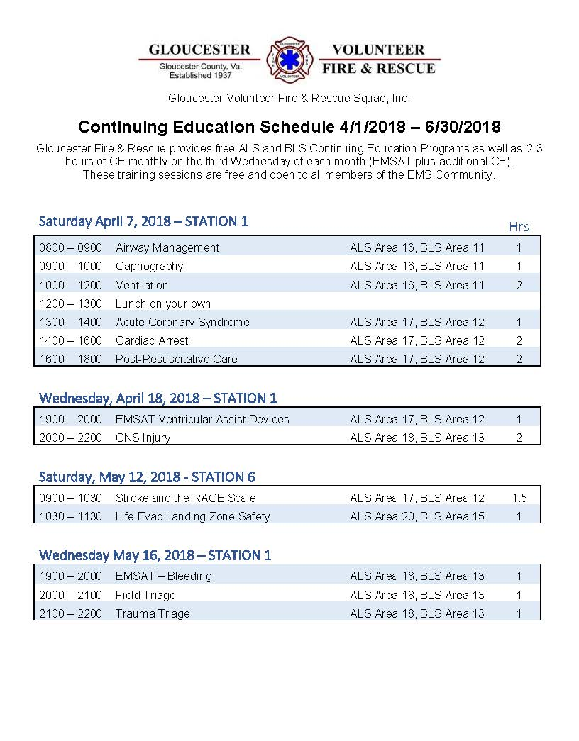 2nd Qtr CEU Schedule v2 Page 1