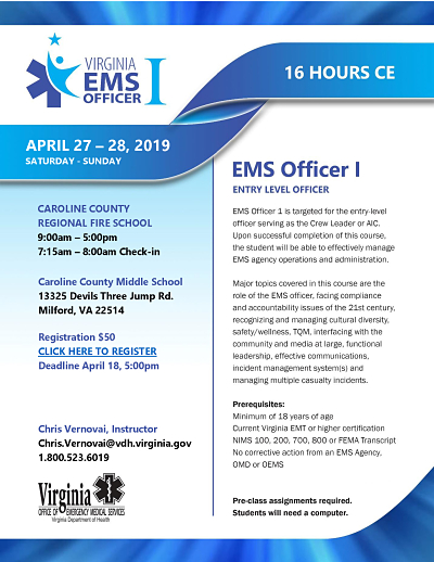 EMS Officer 1 Flyer Caroline Fire opt